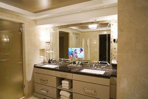 CustomLoftBathroomMirrorTVatLErmitageBeverlyHillssized - In mirror tv for bathroom